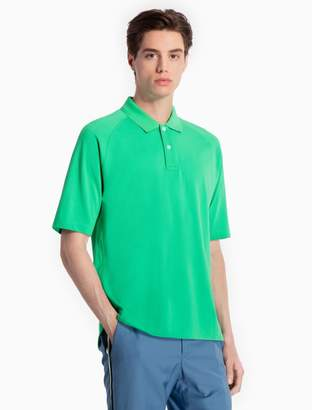 Calvin Klein slim fit cotton knit piped polo shirt