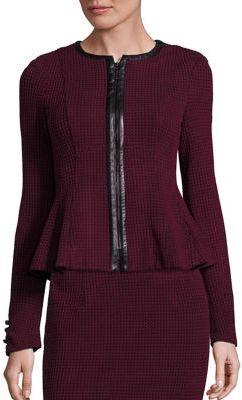 Nanette Lepore Society Tweed Peplum Jacket $498 thestylecure.com