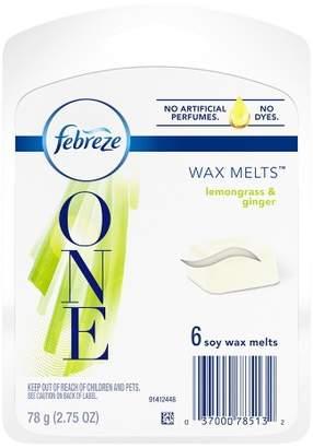 Febreze One Lemongrass & Ginger Soy Wax Melts Air Freshener - 6ct