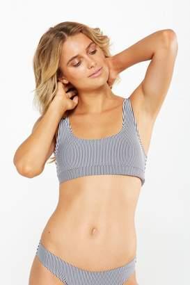 Texture Stripe Bralette Bikini Top