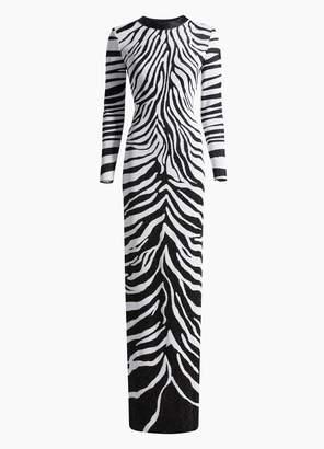 St. John Zebra Knit Gown