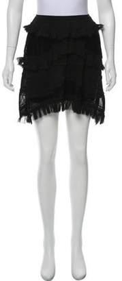 Chanel Perforated Mini Skirt Black Perforated Mini Skirt