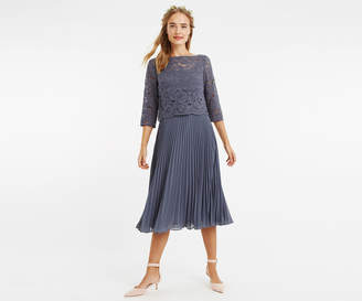 Oasis Lace Top Midi Dress