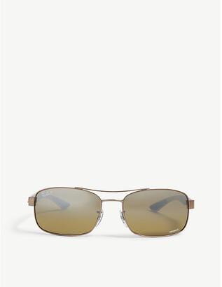 Ray-Ban RB8318 Chromance® rectangular sunglasses