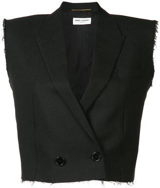 Saint Laurent cropped waistcoat $2,990 thestylecure.com