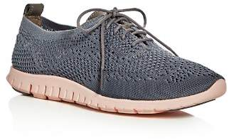 Cole Haan Women's ZeroGrand Stitchlite Knit Lace-Up Oxford Sneakers