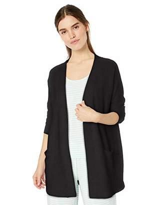 Amazon Essentials Women's Lightweight Lounge Terry Open-Front Cardigan