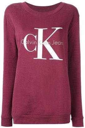 Calvin Klein Jeans logo print sweatshirt $96.58 thestylecure.com