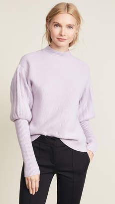 Jonathan Simkhai Wool Tassel Knit Puff Sleeve Sweater