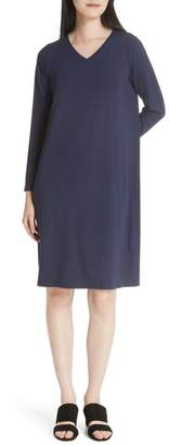 Eileen Fisher V-Neck Knee Length Shift Dress