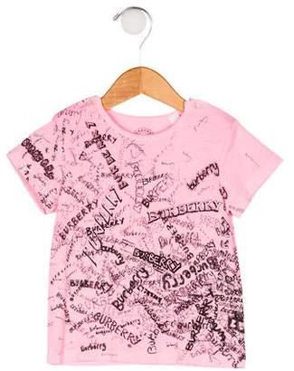 Burberry Girls' Short Sleeve T-Shirt