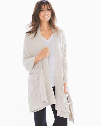 Barefoot Dreams Chic Lite Travel Shawl Bisque