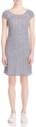 Three Dots Striped Tee Dress $98 thestylecure.com