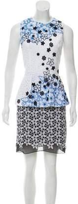 Andrew Gn Eyelet Mini Dress