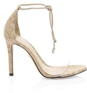 Schutz Josseana Cork Ankle-Strap Heels