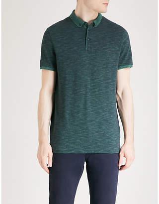 BOSS ORANGE Marl effect cotton-piqué polo shirt