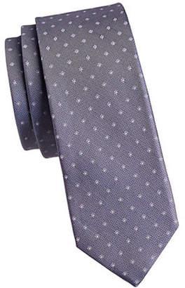 Calvin Klein Pique Dot Slim Silk Tie
