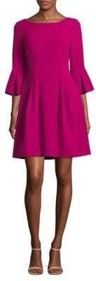 Eliza J Three-Quarter Bell Sleeve Fit-&-Flare Dress