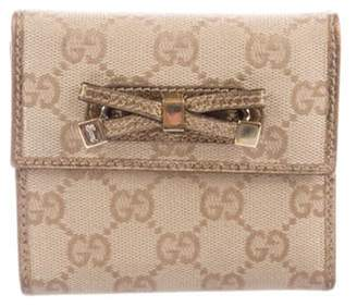 Gucci GG Princy French Flap Wallet Brown GG Princy French Flap Wallet