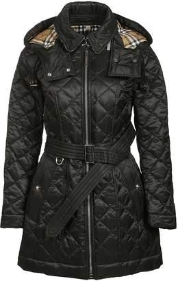 Burberry Quilted Detachable Hood Coat