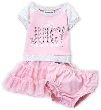 Juicy Couture Infant Girls) Two-Piece Studded Logo Tutu & Bloomers Set