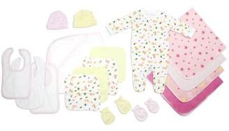 Bambini Newborn Baby Girls 17 Pc Layette Baby Shower Gift Set