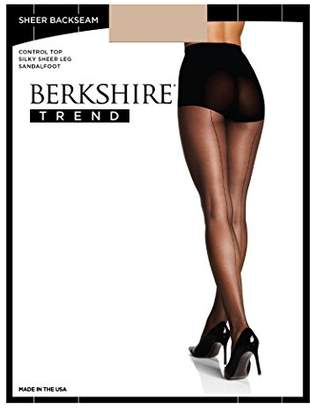 Berkshire Women's Trend Sheer Tonal Backseam Control Top Pantyhose