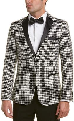 Osborne Paisley & gray Notch Lapel Slim Fit Tuxedo Jacket