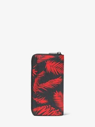 Michael Kors Jet Set Palm Zip-Around Wallet