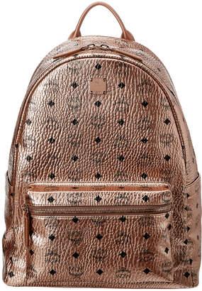 MCM Stark Logo Medium Visetos Backpack