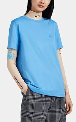 Acne Studios Women's Ellison Face Cotton T-Shirt - Blue