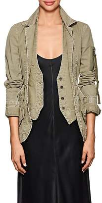 Greg Lauren Women's E-1 Distressed Cotton Jacket