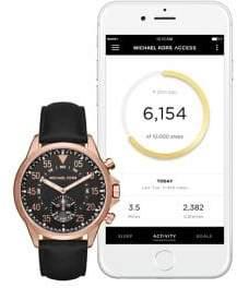 Michael Kors Gage Leather Strap Hybrid Smartwatch
