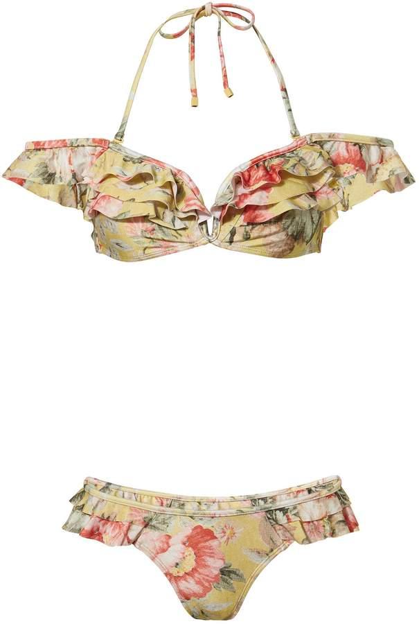 Melody Frill Floral Bikini