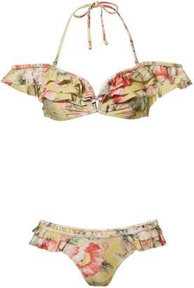 Zimmermann Melody Frill Floral Bikini