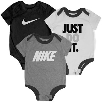 Nike Baby Boy 3-Pack Short Sleeve Bodysuit