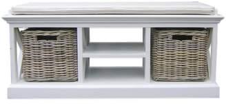 Coastal Storage Bench Seat & Cushion