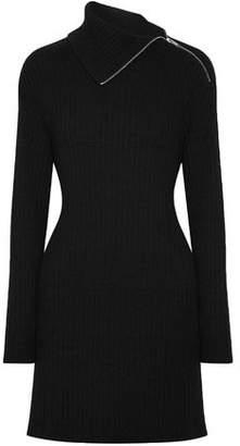 Proenza Schouler Cutout Ribbed Wool-blend Mini Dress