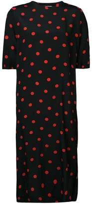 Ganni polka dot shift dress