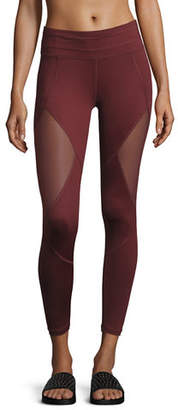 Varley Walnut Mesh-Panel Sport Tights $120 thestylecure.com