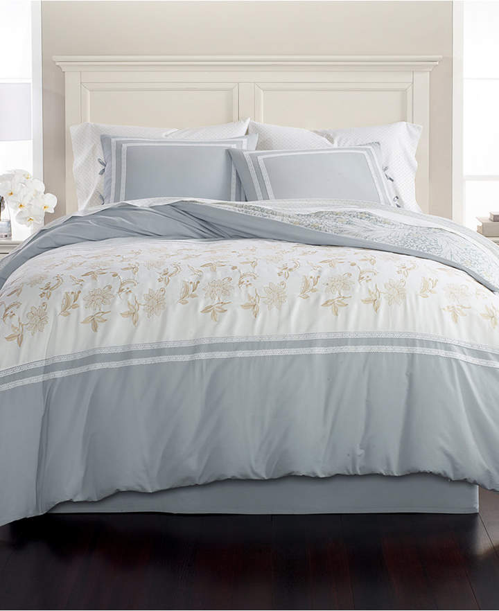 Martha Stewart Collection Embroidered Floral Reversible 8-Pc. King Comforter Set, Created for Macy's Bedding