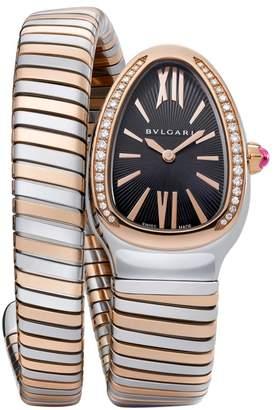 Bvlgari Serpenti Tubogas Rose Gold, Stainless Steel & Diamond Single Twist Watch