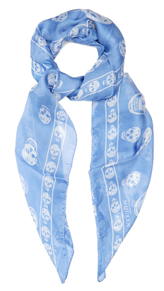 ALEXANDER MCQUEEN Skull-print silk-chiffon scarf $171 thestylecure.com