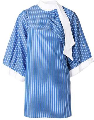 Maison Margiela striped flared dress