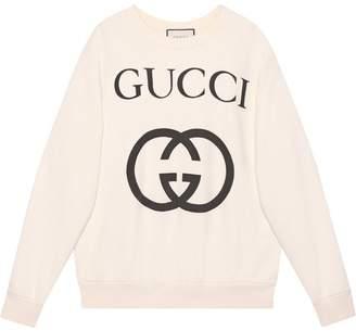 Gucci Oversize sweatshirt with Interlocking G