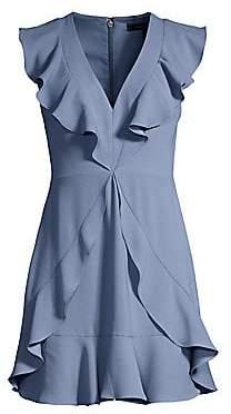 BCBGMAXAZRIA Women's Tyrah Ruffle Mini Dress