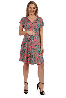 24/7 Comfort Apparel 24Seven Comfort Apparel Allie Empire Waist Maternity Mini Dress