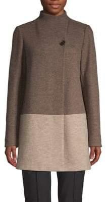 Lafayette 148 New York Valina Virgin Wool Blend Coat
