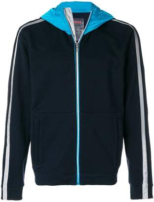 Prada multi-fabric hoodie