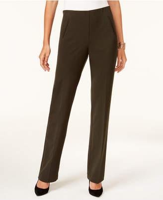 Style&Co. Style & Co Petite Straight-Leg Tummy-Control Pants
